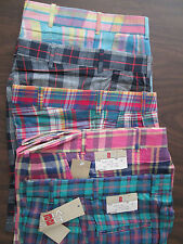 Girls Shorts Plaid cotton blue green Pink Blue Yellow 8 10 12 14 16 18 20 NEW