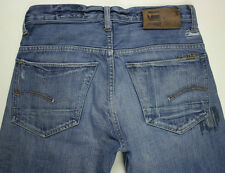 EUC - RRP $369 - Mens Stunning G-Star Raw Destroyed '3301 CLASSIC' Indigo Jeans