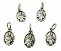 Lot of 5 Patron Saint St Gerard 1/2 Inch Silver Tone Pray for Us Medal