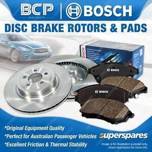 Rear BCP Disc Rotors + Bosch Brake Pads for Nissan 280 ZX S130 280 ZX ZXT HGS130