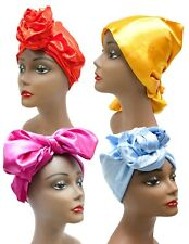 Oblong Satin African Head Wrap Black Hair Scarf Tie Protective Silky Texture