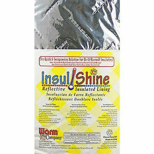 Insul-Shine Reflective Insulated Lining 114 cm x 1 METER By the Warm Company NEW