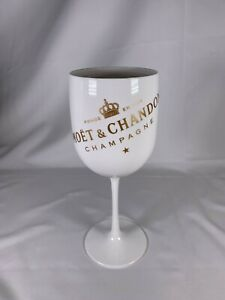 """MOET & CHANDON White Acrylic Goblet 8.5"""" Champagne Glass"""