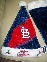 St. Louis Cardinals MLB Baseball Santa Hat Cap Christmas XMAS Red White Vintage