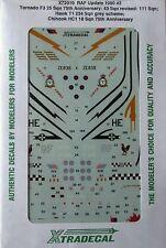 Xtradecal 1/72 X72019 RAF Update 1990 (Tornado/Hawk/Chinook) Decal set pt 2