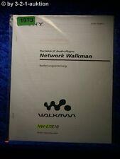 Sony Bedienungsanleitung NW E7 / E10 Network Walkman (#1973)