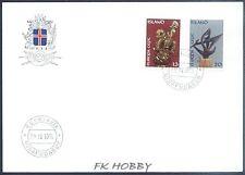 Iceland 1974 FDC 489-90 Union Europa Cept Art Kunst