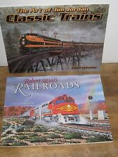 TED ROSE HOWARD FOGG RAILROADING TRAINS CALENDAR COLLECTION 6 LOT