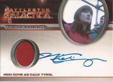 "Battlestar Galactica 4 - Nicki Clyne ""Cally Tyrol"" Costume/Autograph Card"