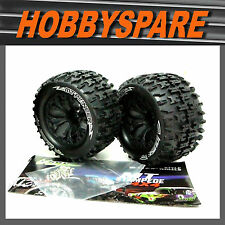 LOUISE 1/10 RC TRUCK WHEEL & TYRE 0 OFFSET MONSTER JAM RUSTLER STAMPEDE REAR