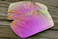 New Polarized Deep Pink Rose Gold Replacement Sunglass Lenses for Oakley Gascan
