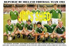 REPUBLIC OF IRELAND TEAM PRINT 1981 (HUGHTON/BRADY)