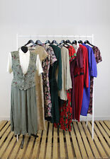 JOB LOT OF 10 VINTAGE DRESSES. MIX OF COLOURS, SIZES AND STYLES. #31