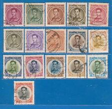 """Thailand """"King Rama IX Definitive"""" 4rd Series USED 16 Stamps"""