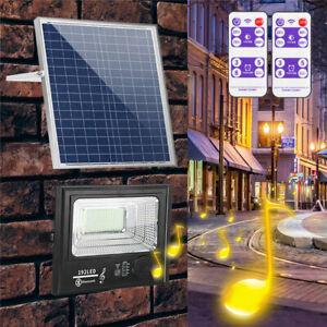 50W 200W LED Bright Solar Powered Flood Light Spotlight Outdoor Wall Street J