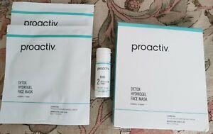 PROACTIV Detox Hydrogel Face Masks x5 Plus Revitalizing Toner 1 fl oz ~NEW~