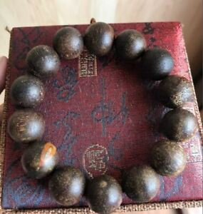 HIGH-QUALTY AGARWOOD NATURAL BRACELET 16MM 13 Beads SUMATRA, INDONESIA