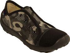 ROHDE Schuhe trendige Hausschuhe camouflageTextil Klettverschluss NEU