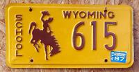 """Original Wyoming """"School"""" US Nummernschild"""