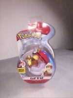 Pokemon Clip n Go Growlithe + Repeat Ball Action Figure