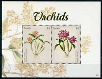 Tuvalu 2018 MNH Orchids Cattleya Orchid 2v S/S Flowers Flora Nature Stamps