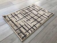 Machine Washable Non Slip Doormat Mat Design Biscuit Light Beige Brown Rug