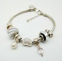 Very Good Charm Company Sterling Silver Charm Bracelet & Charms.