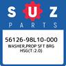 56126-98L10-000 Suzuki Washer,prop sft brg hsg(t:2.0) 5612698L10000, New Genuine