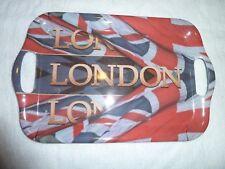 """3 x petites """"Union Jack/London Design Mélamine Plateau"""" par Ted Smith-NEUF"""