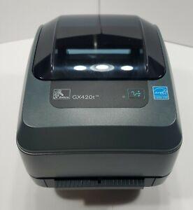 ZEBRA GX420t Thermal Barcode Label Printer GX42-102410-000 No Adapter