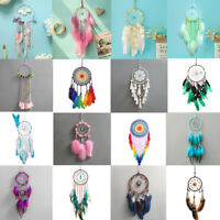 Handmade Feathers Dreamcatcher Dream Catcher Net Wedding Home Hanging Decor Gift