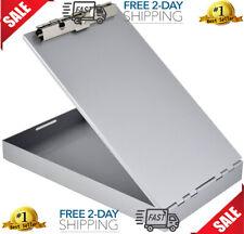New listing Aluminum Metal Clipboard Case Folder With Storage Contractor Rn Nurse Coach Work