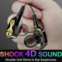 4 Speaker Bluetooth wireless Headphones Earphones stereo bass for iPhone Samsung
