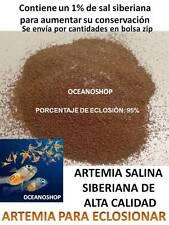HUEVOS ARTEMIA SALINA SIBERIANA quistes PARA ECLOSIONAR A GRANEL acuario cria