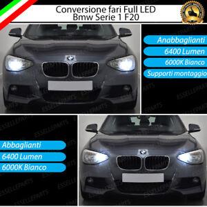 KIT FARI FULL LED BMW SERIE 1 F20 ANABBAGLIANTI H7 + ABBAGLIANTI H7 CANBUS 6000K