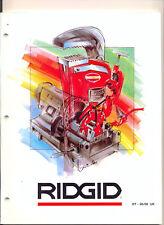 Catalog RIDGID pipe Tools RT 1998 / 1999 UK professional tools Ridge tool europe