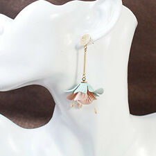 Sexy Sparkles Fabric Flower Ear Post Stud Earrings