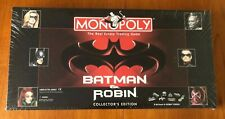 MONOPOLY BATMAN AND ROBIN 1997 COLLECTORS EDITION NEW and FACTORY SEALED