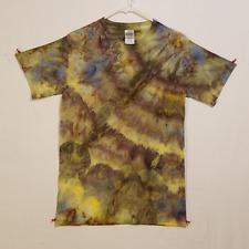 Ice Tie Dye T-Shirt - Gildan Ultra Cotton - Psychedelic Streetwear - Small E1