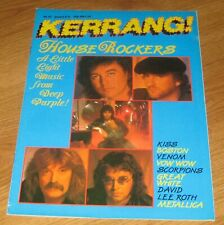 KERRANG Magazine no 137 Deep Purple Kiss Venom Vow Wow Metallica Great White
