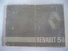 RENAULT 5 R5 (1981) - Carnet d'utilisation et entretien (manuel conduite emploi)