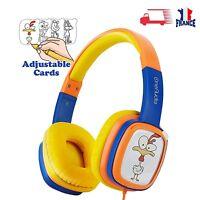 Kids Sur Oreille Casque pour Enfants OneAudio Écouteurs Bleu iPad/Tablette Mini