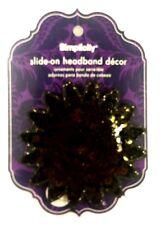 Simplicity - Black Starburst sequin Headband side Accent