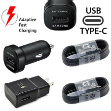 Fast USB Type-c Charging Cable Car&Wall Charger For Samsung Galaxy S8 S9+ Note8
