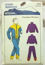 Storm Mountain Sewing Pattern #F819 LADIES CANADIAN WINDSUIT XXS-XXL UNCUT