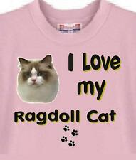 Ragdoll Cat T Shirt - I Love My Ragdoll Cat - Dog T Shirt Available
