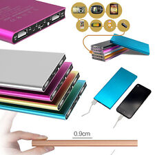 Gold 20000mAh Portable Power Bank LED Dual USB Battery Charger For Mobile Phone