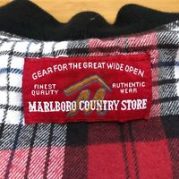 Vintage Marlboro Country Store Plaid Vest Reversible Shirt Men's Large
