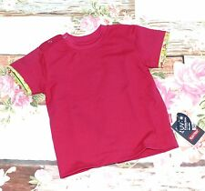 MaxiMo T-Shirt Baby Mädchen Druckknöpfe ÄPFEL UV Schutz 50+ Pink Gr. 68 80 NeU