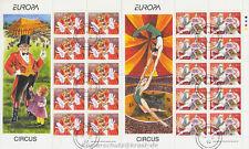 Europa cept 2002 circo Circus-Irlanda Ireland 1432-33 Klein arco con sello